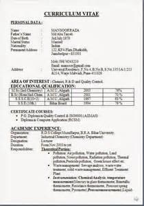 chemistry major resume template format of resume sle