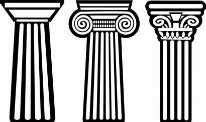 Greek Column Clip Pillar Clipart Greece Ancient