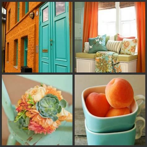 orange  turquoise ideas  pinterest orange  grey living room decor house