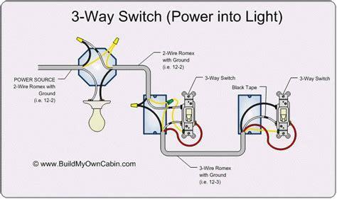 3 way light wiring lighting fixtures way switch diagram power into