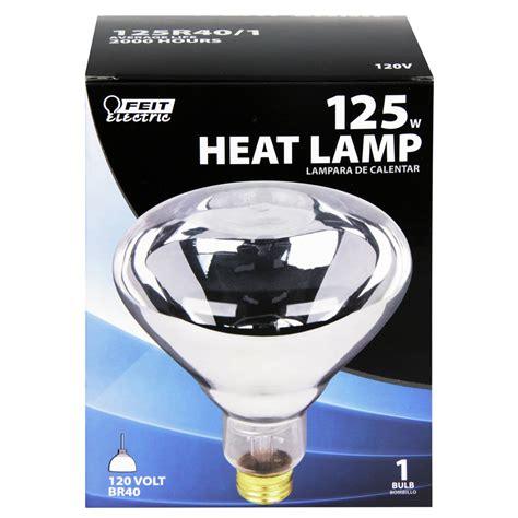 shop feit electric 125 watt br40 clear incandescent heat