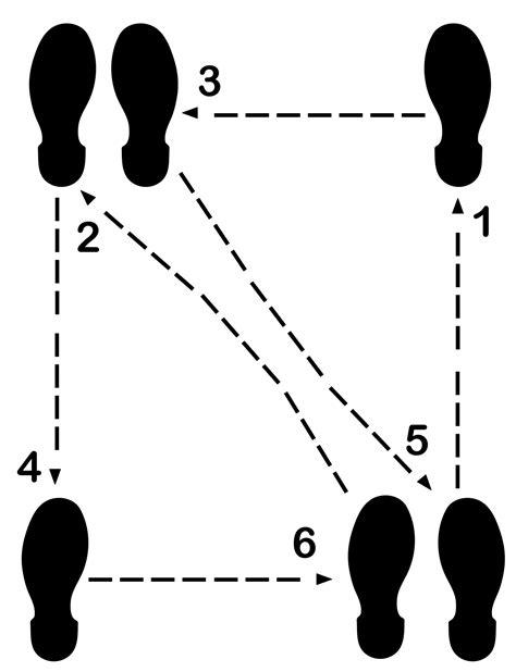 Litemark Removable Dance Floor Diagram Decal Step Kit
