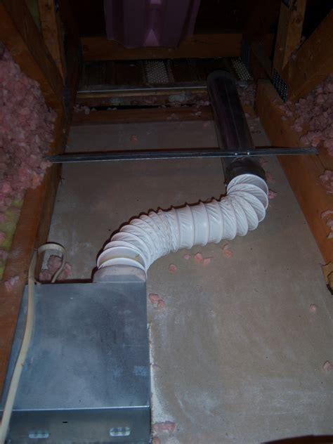 bathroom exhaust vent  attic attic ideas