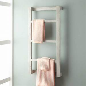 wulan teak hanging towel rack bathroom With bathroom towel racks and shelves