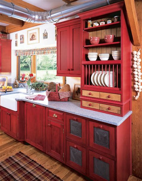perfect red country kitchen cabinet design ideas for trend homes revolutionize your kitchen with red kitchen ideas