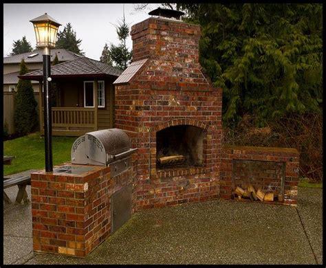 Brick Bbq, Backyard And Outdoor