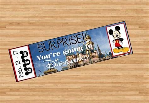 You Re Going To Disneyland Printable Best 20 Surprise Date Ideas On Pinterest