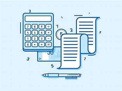 Accounting Software Calculating Explainer Animated Scene Business