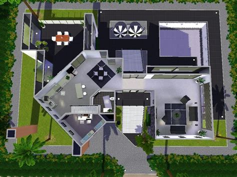 Sims 3 House Floor Plans Modern by House Plans And Design Modern House Plans For Sims 3