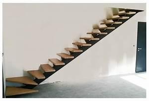 Escalier Metal Et Bois : limon d 39 escalier quart tournant en acier ~ Dailycaller-alerts.com Idées de Décoration