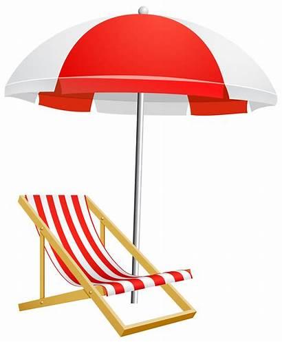 Umbrella Transparent Beach Clipart Chair Clip Patio