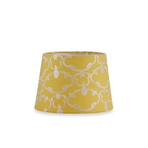 yellow drum l shade mix match small 10 inch embroidered hardback drum l