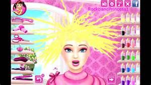 Barbie Hair Cutting Game Barbie Makeover Game Youtube