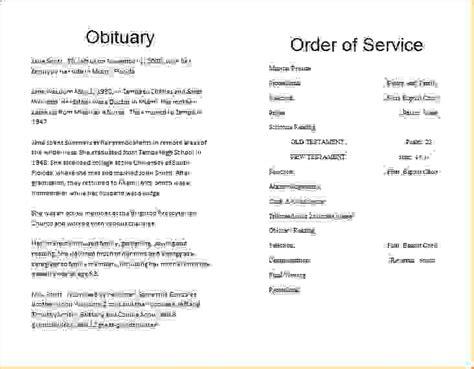 microsoft word obituary template 8 obituary template for microsoft wordagenda template sle agenda template sle