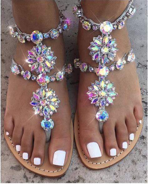 shoes jewels sandals diamonds glitter wheretoget