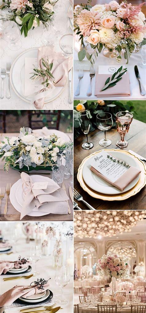 super elegant wedding table setting ideas