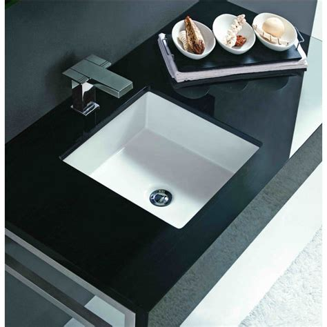 bathroom sinks undermount vitreous china square sink by