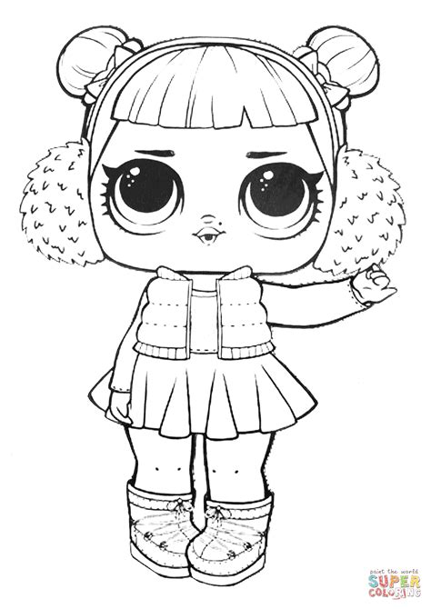 lol surprise doll snow angel coloring page  printable coloring pages