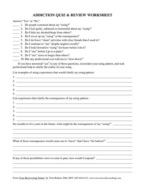 drug  alcohol recovery worksheets worksheets mtiwndq
