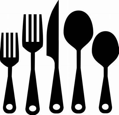 Kitchen Cutlery Icon Utensils Svg Cocina Utensilios