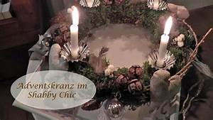 Dekorieren Im Shabby Look : diy adventskranz selber machen im shabby chic schm cken dekorieren i weihnachtsdeko i how to ~ Markanthonyermac.com Haus und Dekorationen