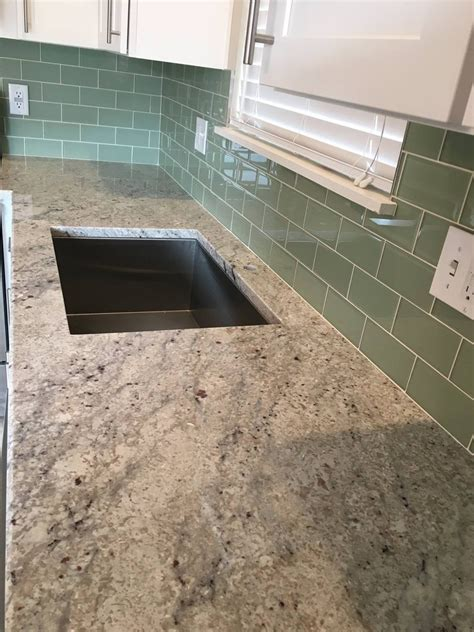 sage  glass subway tiles rocky point tile glass