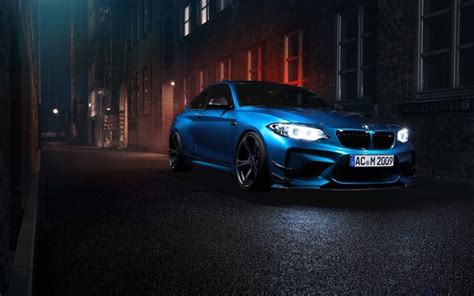 Download Wallpapers Bmw M2, F87, Night, 2016 Cars