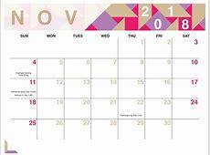 November 2018 Calendar Pdf Reader Free Printable Blank