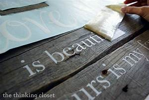 wood pallet sign tutorial pallet art barbara corcoran With how to make wood signs with lettering