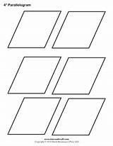 Parallelogram Printable Shape Rhombus Coloring Template Templates Shapes Timvandevall Outline Crafts Blank Signs sketch template