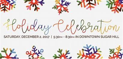 Celebration Holiday Tree Lighting Banner Events Website