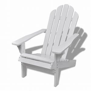 Chaise De Jardin Blanche : chaise de salon jardin en bois blanche chaise relaxation ~ Dailycaller-alerts.com Idées de Décoration