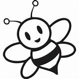 Bee Coloring Bumble Pages Bees Cute Honey Cartoon Baby Clipart Bumblebee Clip Flying Colouring Little sketch template