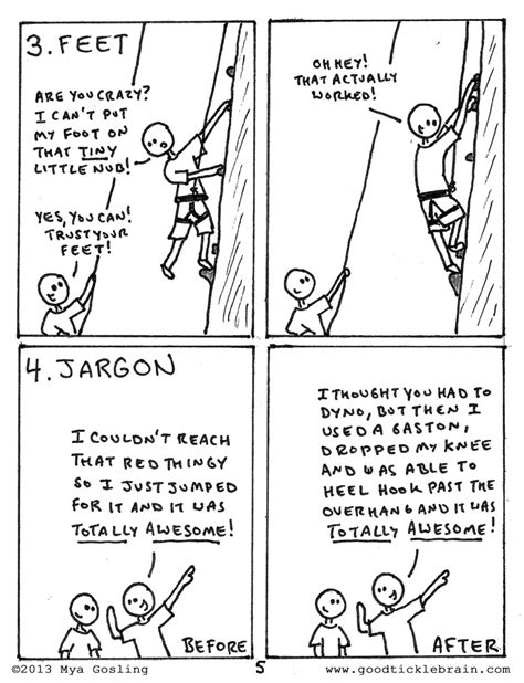Rock Climbing Good Tickle Brain Mostly Shakespeare