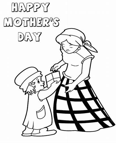 Coloring Mother Pages Happy Mothers Hug Printable