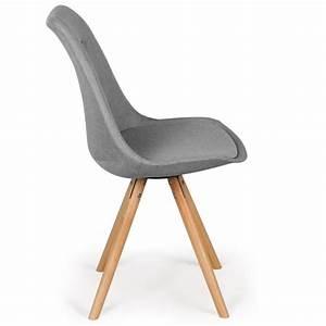 Lot 4 Chaises Scandinaves : chaises scandinaves ida tissu gris lot de 4 pas cher scandinave deco ~ Teatrodelosmanantiales.com Idées de Décoration