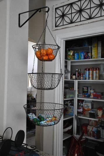 hanging baskets for kitchen wire three tier hanging basket kitchens organizations