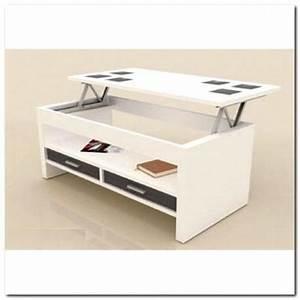Table Basse Relevable Blanche : table basse tiroirs plateau relevable blanche achat vente table basse table basse tiroirs ~ Teatrodelosmanantiales.com Idées de Décoration