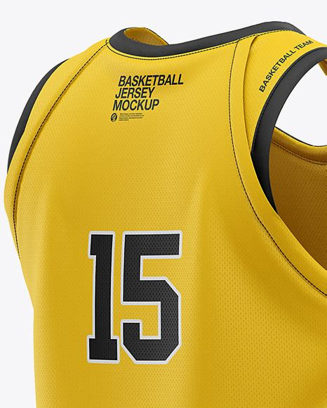 The psd has separate smart layers for the pant legs and the waistband. Men's U-Neck Basketball Jersey Mockup - Back Half Side ...