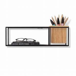 Petite Etagere Metal : petite tag re murale cubist en bois et m tal par umbra design ~ Teatrodelosmanantiales.com Idées de Décoration