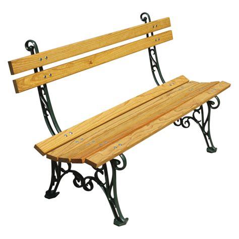 banc en bois de jardin banc de jardin bois et fonte type lorraine par jardin et