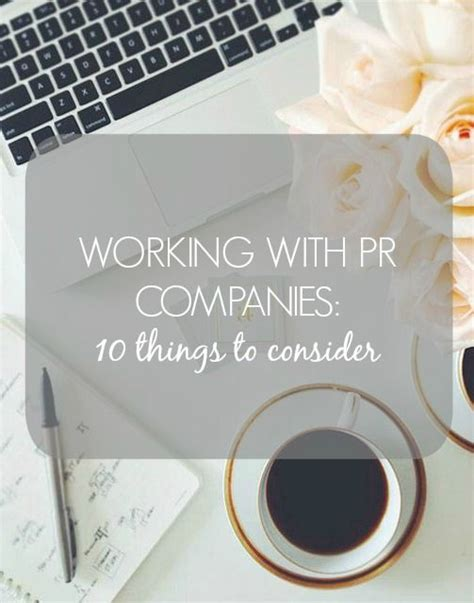 Working With Pr Companies  10 Things To Consider