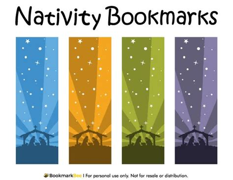 christmas template mark free printable nativity bookmarks download the pdf