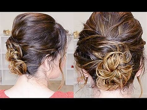 simple updo for curly hair youtube