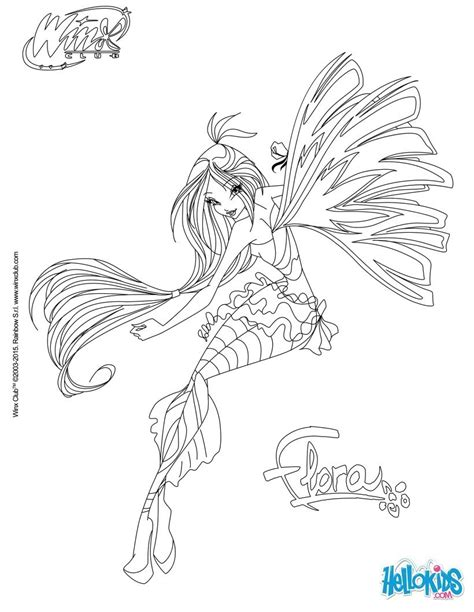 coloriages flora transformation sirenix frhellokidscom