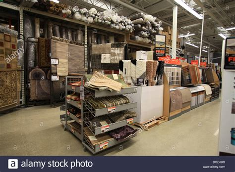 home depot floor store floor carpet and rug sles on display in the home depot kitchener stock photo royalty free