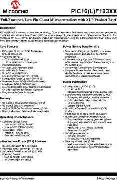 pic16f18313 i rf datasheet specifications family