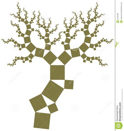 albero clipart albero di pitagora illustrazione vettoriale illustrazione