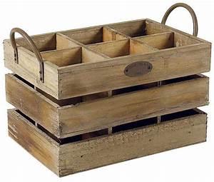 Range Bouteille Bois : caisse de rangement 6 bouteilles ~ Teatrodelosmanantiales.com Idées de Décoration