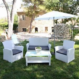 Canapé Jardin Pas Cher : salon de jardin blanc pas cher flipside ~ Premium-room.com Idées de Décoration